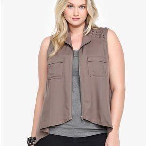 torrid Jackets & Coats - Torrid Brown Studded Vest
